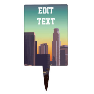 Los Angeles Cake Toppers Zazzle