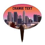 Downtown Los Angeles - Customizable Image Cake Picks