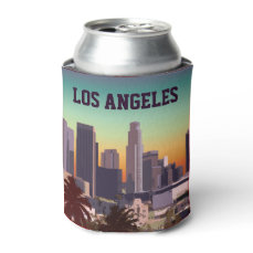 Downtown Los Angeles - Customizable Image Can Cooler