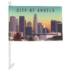 Downtown Los Angeles - Customizable Image Car Flag