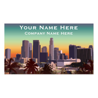 Downtown Los Angeles - Customizable Image Double-Sided Standard Business Cards (Pack Of 100)