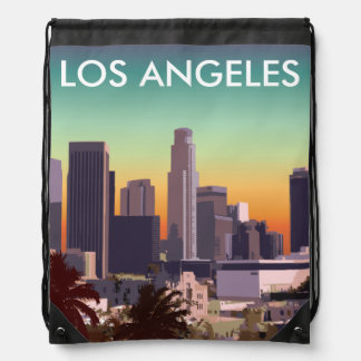 Downtown Los Angeles - Customizable Image Drawstring Backpack