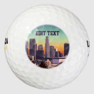 Downtown Los Angeles - Customizable Image Golf Balls