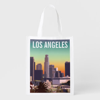 Downtown Los Angeles - Customizable Image Grocery Bag