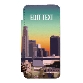 Downtown Los Angeles - Customizable Image iPhone SE/5/5s Wallet Case