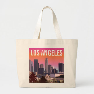 Downtown Los Angeles - Customizable Image Large Tote Bag
