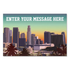 Downtown Los Angeles - Customizable Image Lawn Sign