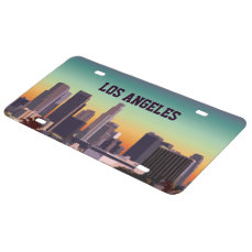 Downtown Los Angeles - Customizable Image License Plate