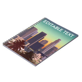 Downtown Los Angeles - Customizable Image Notebook