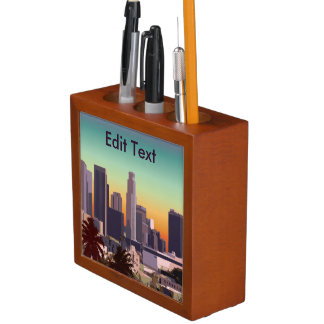 Downtown Los Angeles - Customizable Image Pencil/Pen Holder