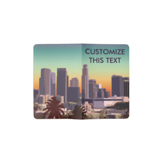 Downtown Los Angeles - Customizable Image Pocket Moleskine Notebook