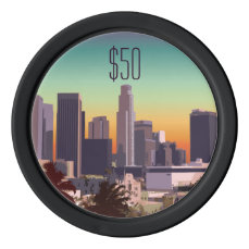 Downtown Los Angeles - Customizable Image Poker Chip Set