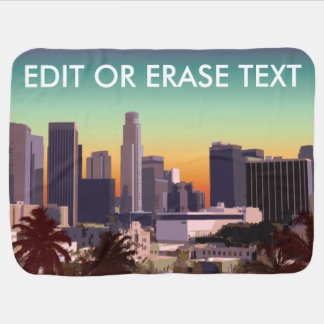 Downtown Los Angeles - Customizable Image Swaddle Blanket