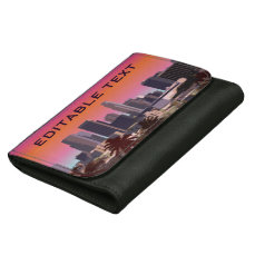 Downtown Los Angeles - Customizable Image Wallet For Women