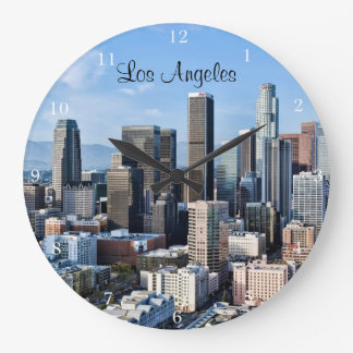 Downtown Los Angeles Daylight Large Clock