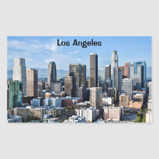 Downtown Los Angeles Daylight Rectangular Stickers