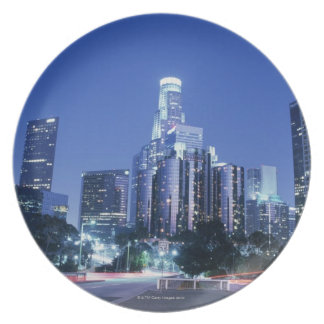 Downtown Los Angeles Dinner Plate