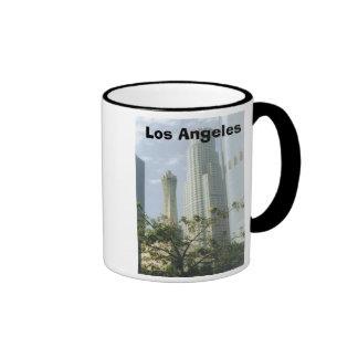 Downtown Los Angeles Ringer Coffee Mug