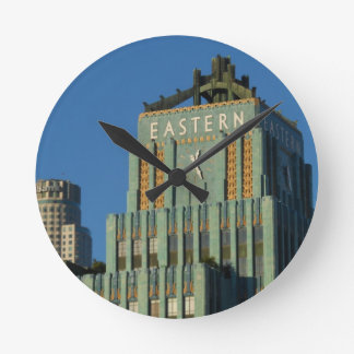 Downtown Los Angeles Round Clock