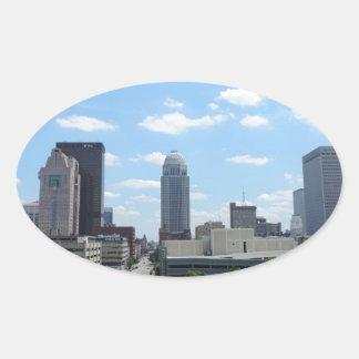 Downtown Louisville Oval Sticker