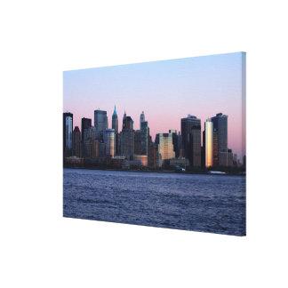 Downtown Manhattan at dusk 2 Canvas Print