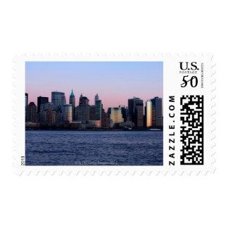 Downtown Manhattan at dusk 2 Postage