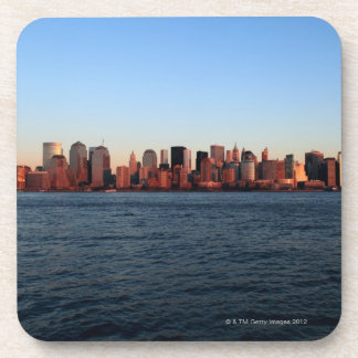Downtown Manhattan at dusk Drink Coaster
