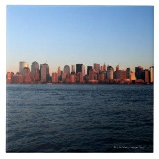 Downtown Manhattan at dusk Tiles