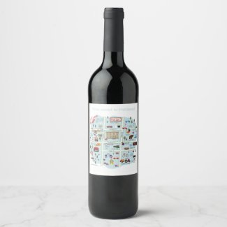 Downtown McKinney Texas Wine Label