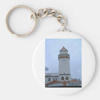 Downtown Merced Basic Round Button Keychain