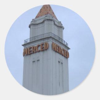 Downtown Merced Classic Round Sticker