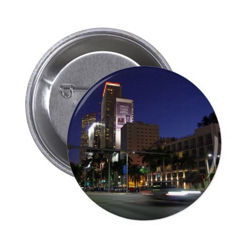 Downtown Miami by night Button