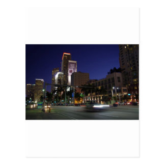 Downtown Miami by night Postcard