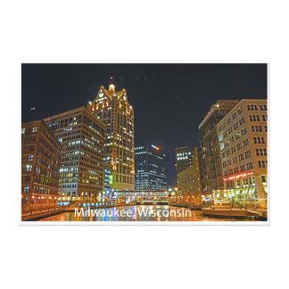 Downtown Milwaukee Canvas Print