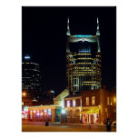 Downtown Nashville Night Posters