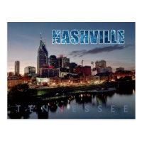 Downtown Nashville skyline, Tennessee at night Postcard