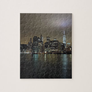 Downtown New York City at Night Jigsaw Puzzles