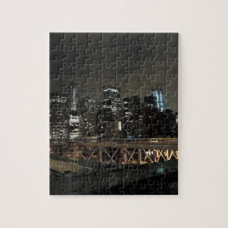 Downtown New York City at Night Puzzle