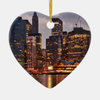 Downtown NYC Ceramic Ornament