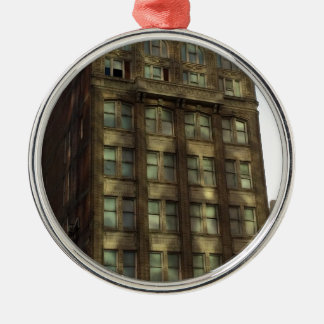 Downtown Oakland California Shadows Metal Ornament