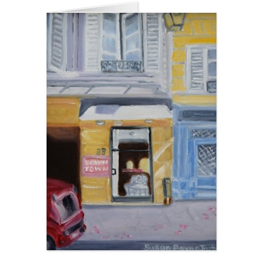 DOWNTOWN PARIS STATIONERY NOTE CARD