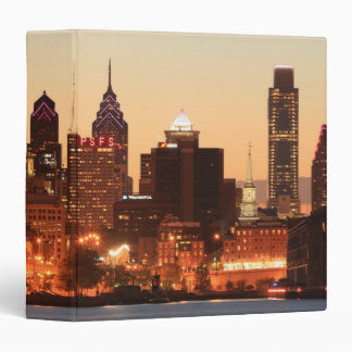 Downtown Philadelphia, Pennsylvania at sunset Binders