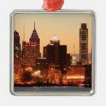 Downtown Philadelphia, Pennsylvania at sunset Ornament