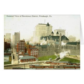Downtown, Pittsburgh 1915 Vintage Greeting Card