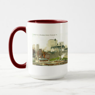 Downtown, Pittsburgh 1915 Vintage Mug