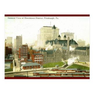 Downtown, Pittsburgh 1915 Vintage Postcard