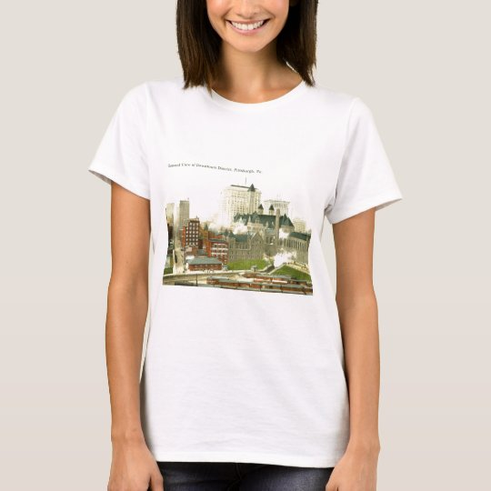 Downtown, Pittsburgh 1915 Vintage T-Shirt