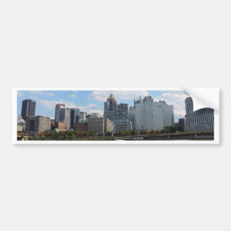 Downtown Pittsburgh Sklyine Bumper Sticker