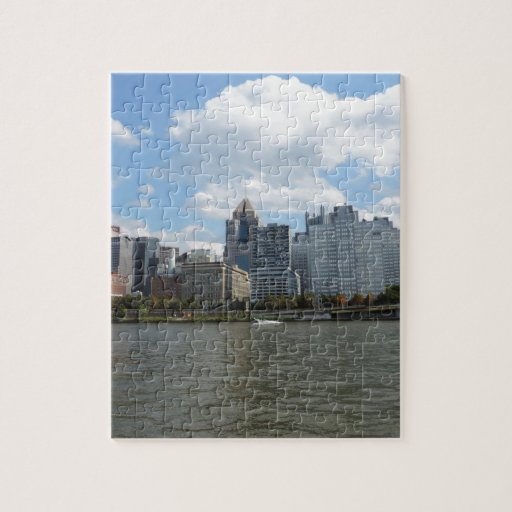Downtown Pittsburgh Sklyine Jigsaw Puzzle