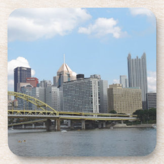 Downtown Pittsburgh Skyline Drink Coaster